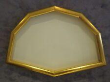 cornice ventagliera in legno dorato a foglia oro  cm. 37 x 23