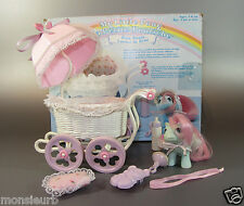 Vintage My Little Pony Cuddles Baby Buggy G1 accessories 85 original Box Hasbro