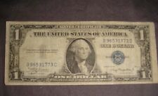 One Dollar Old Silver Certificate  Bill Blue Seal 1935a Series