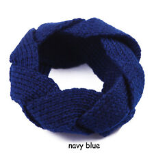 Winter Warmer Hair Accessories Crochet Twist Knitted Headwrap Hair Band Navy bai