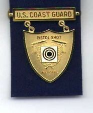 US Coast Guard Pistol Shooting badge in gold National