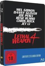 LETHAL WEAPON 4, Zwei Profis räumen auf (Mel Gibson) Blu-ray Disc, Steelbook NEU