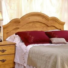 Queen Size Wood Headboard Mounted Bedroom Bed Decor Pine Full Furniture Country
