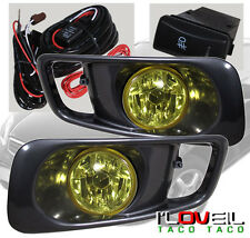 JDM BUMPER LAMPS FOG LIGHTS+SWITCH YELLOW LENS FOR 1999-2000 HONDA CIVIC SI