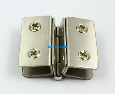 4 Pcs Glass To Glass Hinge 180 Degree Out Swing Cabinet Showcase Glass Clamp (A)