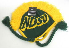 North Dakota Bison Multi-Colors Youth Mohawk Knit Hat With Braids By Adidas