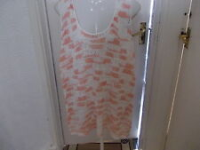 PAPAYA CREAM AND PINK SLEEVELESS LADDER STITCH JUMPER SIZE 16