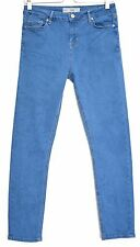 Topshop Super Skinny JAMIE High Waisted Blue Stretch Jeans Size 12 W30 L30