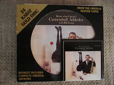 CANNONBALL ADDERLEY KNOW WHAT I MEAN? CD GOLD 24 KT DCC GZS-1090