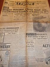 L'EQUIPE TOUR DE FRANCE JEAN GOLDSCHMIDT MAILLOT JAUNE ANNÉE 1950