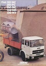 Fiat 110 130 NC PC NR NT Truck Original UK Sales Brochure 1970s Pub. No. 4618