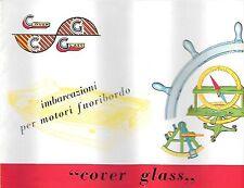 COVER GLASS COSTRUZIONI NAUTICHE MILANO SCAFO CATALOGO PRODUZIONE 1961
