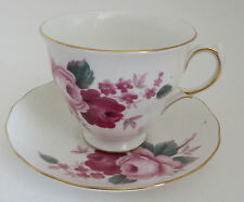 Queen Anne Bone China England Rose Pattern Cup and Saucer Tea
