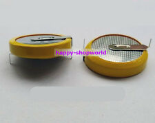 2 x New Tabbed 3V CR2450 Battery Coin Cell Button 2 Horizontal Tabs/Pins 24mm