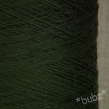 GORGEOUS SOFT 4 PLY ITALIAN PURE MERINO WOOL IMPERIAL GREEN 500g CONE KNIT YARN
