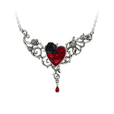 GENUINE Alchemy Gothic Pendant - The Blood Rose Heart | Ladies Necklace