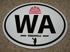 RED HOOK Woodinville WA OVAL LOGO STICKER decal craft beer brewing redhook