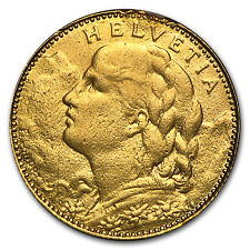 1911-1922 Switzerland Gold 10 Francs Average Circ (Random) - SKU #50931