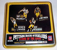 Pittsburgh Steelers Stars of the Game Limited Edition Pin Set Polamalu, Ben Ward