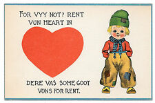 Dutch Kids Boy For Vyy Not? Rent Vun Heart Vintage Samson Bros Postcard