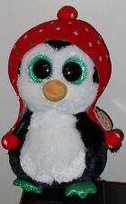 Ty Beanie Boos - FREEZE the Holiday Penguin (Medium Size ~ 9 inch) 2015 NEW MINT