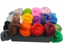 Heidifeathers® High Quality Needle Felting Kit - 200g Merino Wool Tops + Handle