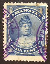Hawaii 37 with Crisp Example of Rare Steamer W.G. Hall Cancel