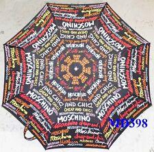 Moschino Cheap & Chic AUTO Umbrella Multi-Color Rain Sunny Women Lady Gift NEW