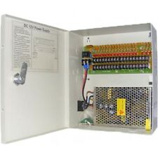 Caja de 12v 18way 20amp fuente de alimentación para los sistemas de seguridad CCTV con llave caja