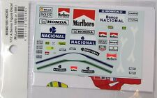 1/12 A.Senna Figure Decal McLaren for Minichamps / MFH / MSMD185