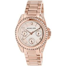 **NEW* LADIES MICHAEL KORS ROSE GOLD CRYSTAL BLAIR MINI WATCH MK5613 -