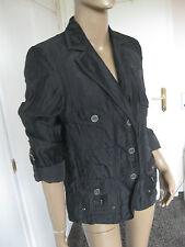 Bonita tolle  Jacke gr. 40 schwarz mit Leinen