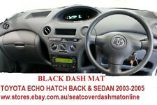 DASH MAT, DASHMAT,BLACK DASHBARD COVER FIT TOYOTA ECHO 2003 - 205 HATCH,SEDAN