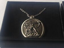 """Diana Goddess code dr88  Made From Pewter On 16"""" Silver Plated Curb Necklace"""
