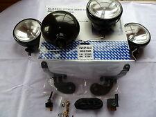 4 BMW MINI SPOT LIGHTS DRIVING LAMPS FULL KIT BLACK BACKED LAMPS
