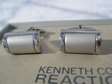 Kenneth Cole Reaction Cufflinks, Rounded Silver-Tone, $42 Retail