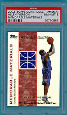 2003 Topps Contemporary Coll. Allen Iverson Game Used Jersey- #MEMAI PSA 8! POP1