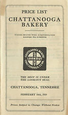 1919 Chattanooga Tennessee Chattanooga Bakery Cookie & Cracker price list, 6 pgs