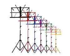 Colourful Sheet Folding Music Stand Metal Tripod Stand Holder With Soft Case