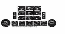 2004–2009 Volkswagen Touareg Climate Control V2 Matte Black Button Repair Decals