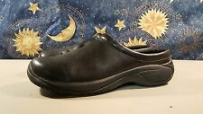 Merrell Black Leather Moc Slide Hiking Shoes Sz 14 USED WINTER WORK Sneakers