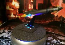 Fireball XL5 Rocket Spacecraft Model Display Meteorite Coated Lighted Base Rare