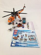 Lego City Arctic Helicrane 60034 Building Set Helicopter Retired Complete No Box