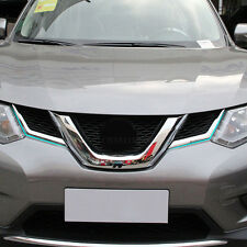 2PCS FIT for 2014-2016 nissan Rogue Chrome Molding Front Grille Grill trim cover