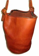 HOT Vtg EUC Coach Bucket Hobo Duffle 9085 Messenger British Tan Patina Bag Purse