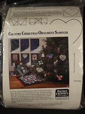 Country Christmas Ornament Sampler Kit 10 Different Items 1138 Bear Quilt Banner