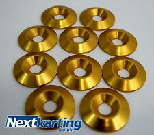 Kart Alloy CSK 30 x 5 x 8mm Seat Washers M8 Gold  x 10 - Tillett - NextKarting