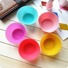 10pcs  Kitchen Tool Silicone Round Cake Baking Cup Muffin Cupcake Mold