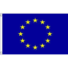 European Union (EU) Large Flag 8ft x 5ft Banner With 2 Metal Eyelets