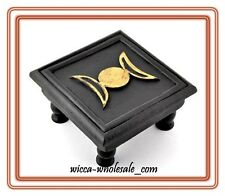 Triple Moon Altar Table Wooden FREE PRIORITY MAIL SHIPPING ~ Wicca Pagan